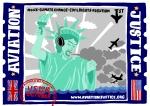 Aviation Justice Express liberty postcard