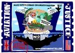Aviation Justice Express ship postcard