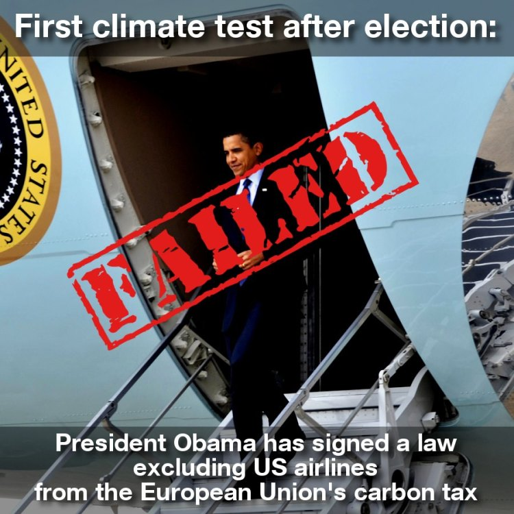Obama's aviation/climate fail